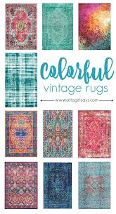 colorful rugs. Add A Pop Of Statement Color To Your Home With One These Gorgeous, Bold Colorful Rugs F