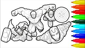 You can print or color them online at 700x583 robots fighting iron man coloring page for kids, robots. The Marvel Coloring Pages Iron Man Hulk Captain America Thor Coloring With Colored Markers Youtube