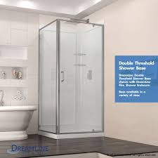 36 x 36 corner shower kit. dreamline dl-6789-09 french corner shower enclosure and base kit 36\ 36 x