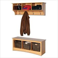 Cubby Bench And Coat Rack Set Fascinating Buy Prepac Sonoma Maple Cubbie Bench And Wall Coat Rack Set In Cheap