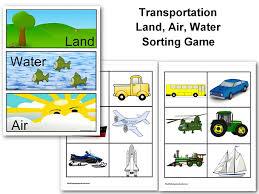 Land, Water, Air - Sorting Transportation Game | Nuttin' But Preschool