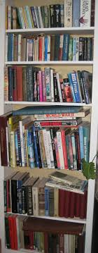 mostly coffee table books with a little fiction and a copy of gray s anatomy for