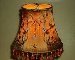 dupioni silk beaded embroider lampshade