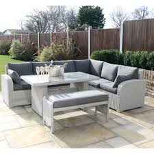 corner dining furniture. Kensington Deluxe Havana Corner Unit With A Rectangular Dining Table And Bench - Pebble Regatta Garden Furniture Essex C