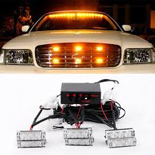 Car Emergency Warning Lights Details About 18 Led Strobe Dash Emergency Flashing Warning Lights For Car Truck Yellow Amber