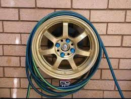 old tire rim