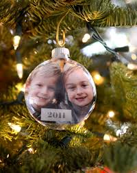 Holiday photo card turned into an ornament