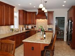 medium wood kitchen cabinet image