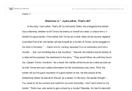 in the story just lather thats all by hernando tellez the  document image preview