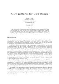 Gof Design Patterns Pdf Gof Patterns For Gui Design