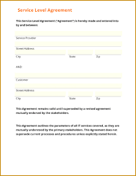 It Service Contract Template Free Cute Service Agreement Template Free Ideas Entry Level Resume 9