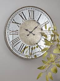 mirrored roman clock