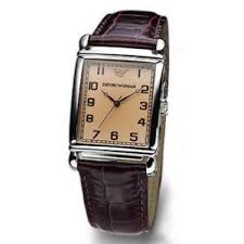 emporio armani ladies classic leather brown watch ar0204 outl emporio armani ladies classic leather brown watch ar0204