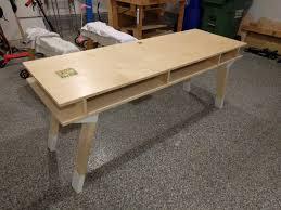 build office desk. I Wanted A Modern, Industrial-vibe Desk For The Home Office I\u0027m Building (still In Progress). I\u0027ve Been Digging Relatively Raw Plywood Modern Design. Build O