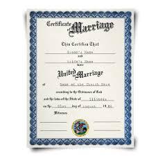 Fake ca Diplomacompany Certificate Marriage