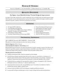 quality resumes sample resume for a midlevel quality engineer monster com