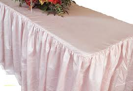 ... Banquet Tablecloths And Skirts New 8 Banquet Ruffle Fitted Taffetatable  Cover Skirt Rectangular ...