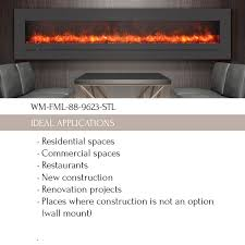 wm fml 88 9623 stl linear electric fireplace amantii electric fireplaces