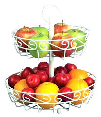 fruit basket for kitchen countertop 2 tier wire baskets cream stand with free melon a stunning fruit basket for kitchen counter tiered fr