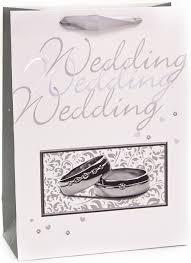 <b>Пакет подарочный</b>, С Днем Свадьбы! (кольца), Белый, Металлик ...