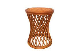 rattan round universal stool