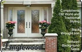 fiberglass entry door with glass doors double front