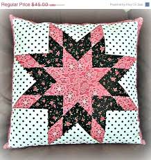 587 best Pillows images on Pinterest | Quilted pillow, Cushions ... & LeMoyne Star Quilt Pillow Sham, Shabby Chic Pillow Cover, Romantic Bedding  Pretty in Pink Adamdwight.com