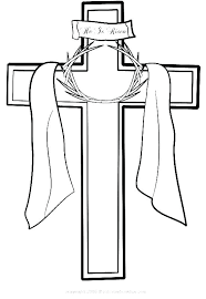 Crosses Coloring Pages Drawn Cross Coloring Sheet Christian Easter