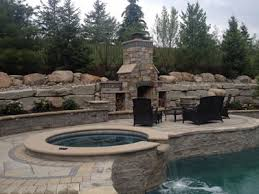 rochester hills mi fireplace pizza oven outdoor living space