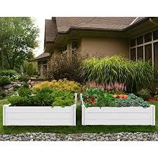 4 ft white vinyl raised garden bed