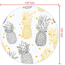 His And Hers Custom Design Amazon Com His And Hers Polka Dot Pineapple Mouse Pad