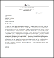 Cover Letter For Pharmacist Resume Professional Pharmacy Manager