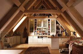 attic home office. Functional Attic Home Office With Folded Sofa-bed - Nice! O