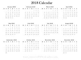 Week At A Glance Calendar Template Yearly Calendar Template Excel 2018 Year At A Glance Word