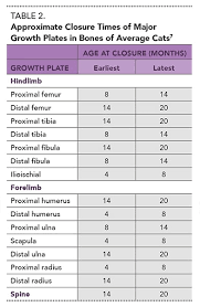 Growth Plate Closure Chart Juvenile Orthopedic Disease In Dogs Cats Part 1