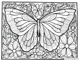 Awesome Butterfly In Large Print Coloring Book For Adults For Large