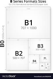 Paper Size Chart Pdf Size Of Format B Paper Sheets