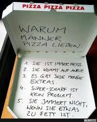 Warum Männer Pizza Lieben Lustige Bilder Sprüche Witze Echt