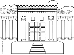 Small Picture Solomons Temple Coloring Page Crafting The Word Of God