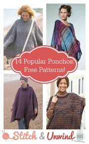 Free Crochet Poncho Patterns Fascinating 48 Popular Knit And Crochet Ponchos Free Patterns Stitch And Unwind