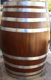 Decorative Wine Barrel - Natural Eight Band