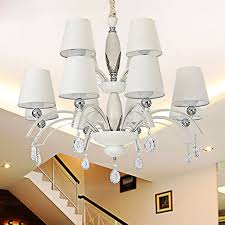 fabric shade white fixture 12 light modern chandeliers for room