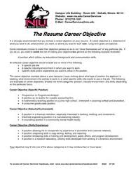 job objectives on a resumes