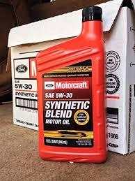 amazon motorcraft sae 5w30 synthetic blend motor oil 12 quart case automotive