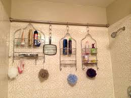 small shower room storage ideas easy organization for a family of five rod across shower room storage ideas