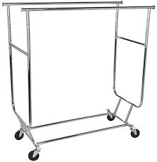 Commercial Coat Racks On Wheels Collapsible Garment Rack Dual Hang Rail Stand With Wheels Regarding 37