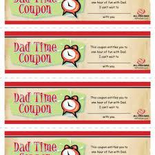 Printable Homemade Coupons Dad Time Coupons Printable Tip Junkie