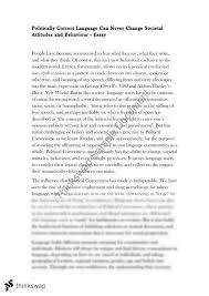 Political Correctness Essay Year 12 Vce English Language