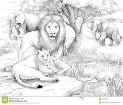 Small Picture 9 Images of African Savannah Coloring Page Printables Grassland