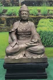 large lotus buddha on plinth